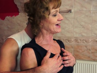 Granny anally banged after exercising