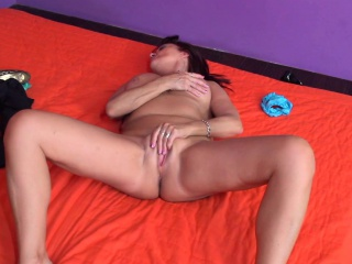 Lusty granny masturbating loudly