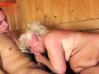 Chubby euro grandma pussylicked and fingered