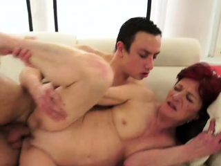 Sex With Redhead Granny