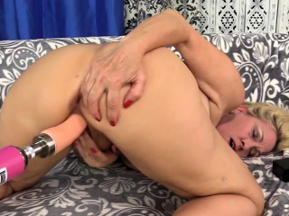 Dildo Machine Drills Granny Cala Craves