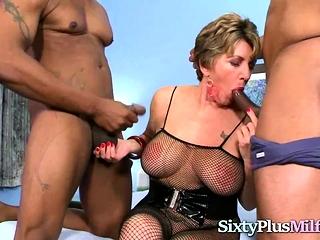 Interracial Threesome Sex