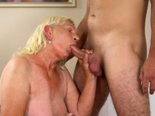 Granny fondles big tits