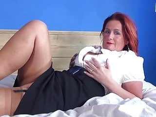 Hot mature mom and MILF with hungry vagina