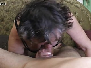 Dirty grandma gets fucked by her toyboy