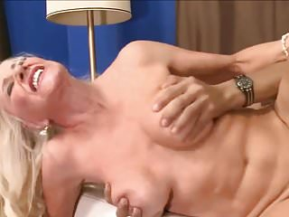 Blonde saggy granny gets plowed by her boy toy