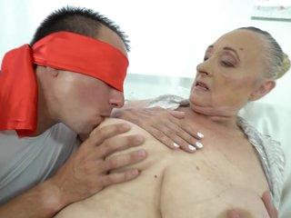 Hardcore sex for super busty granny
