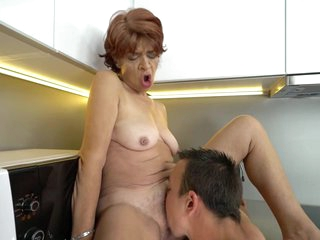 Granny Fucks Hard With a Big Cock