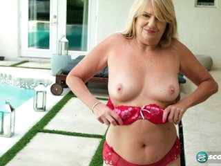 A day at the pool with a 61-year-old granny - 60PlusMilfs