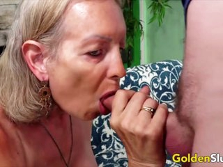 Golden Slut - Blonde Mature Beauties Blowjob Compilation Part 1