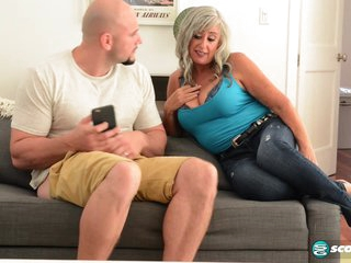 Silva fucks her step-son. Her step-son is JMac. - 60PlusMilfs