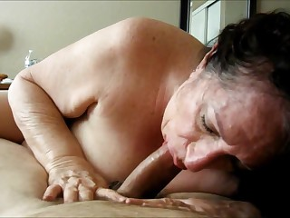 Granny Sucking on His Cock POV