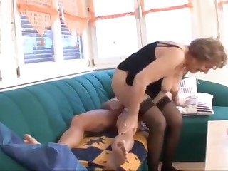Granny martha in stocking fuck