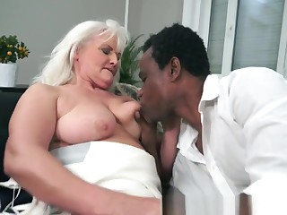 Cocksucking Granny Drilled By Big Black Cock