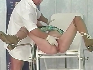 92 years old granny rough fisted by a doctor