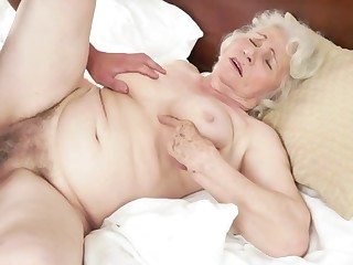 Sex with hairy granny