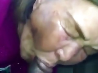 Asian Granny Sucks Black Cock In The Car