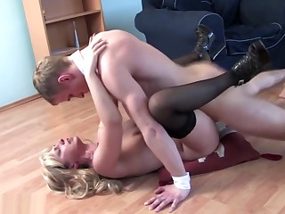 Mature sex private party with moms and son