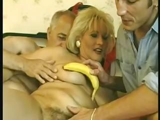 Bushy older 3some