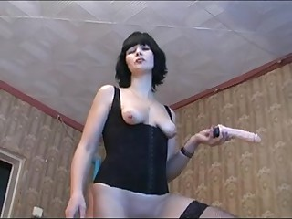 Aged whore masturbates and bonks hard