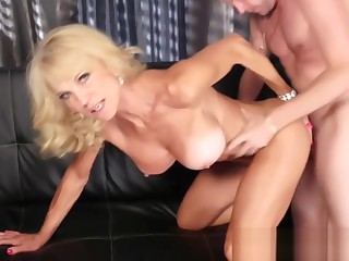 Busty Blonde Gilf Fucked by a Stud