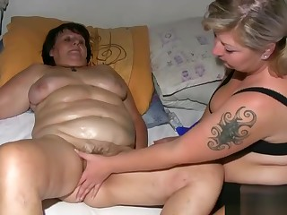 Granny Gets Her Fat Pussy Massaged