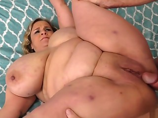 Huge Breasted Bbw Rubs Her Pussy And Takes Cock