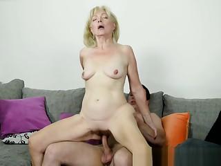Ass fucked granny jizzed