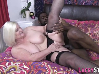Obese Granny Gets Blacked - Interracial Sex