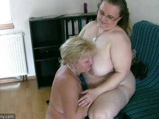 Very Chubby Chick And Mature Grandmother Suck Meat